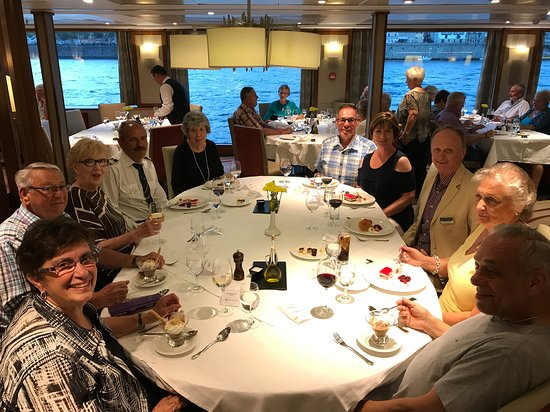 AmaVida: We were invited to dinner with our Cruise Manager, Christian Abker and Capt