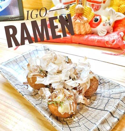 ¡Takoyaki de pulpos listo para servir 🍜