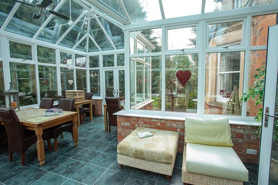 Our conservatory leading to guest garden & pond