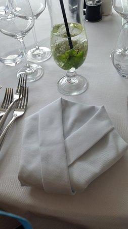 Scenic Pearl: Napkins folded beautifully.