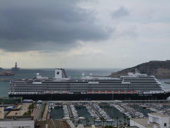 Koningsdam: In the port of Cartagena, Spain.