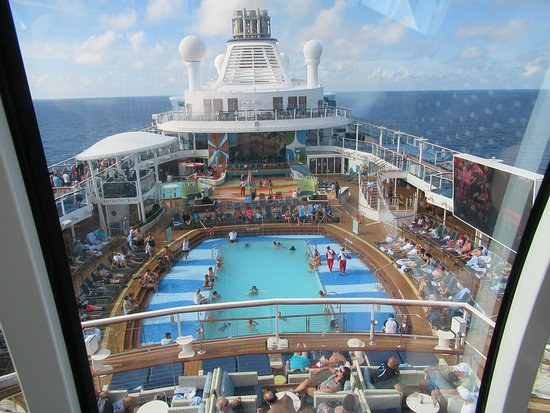 Anthem of the Seas: North Star - elevated bubble, goes up into the air above the ship.