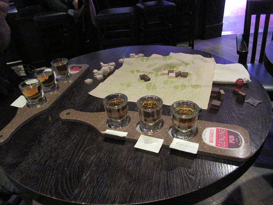 Anthem of the Seas: Rye flight at the pub. Possibly the best alcohol deal on board at $14.
