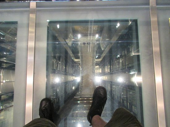 Anthem of the Seas: The view down the main elevator shaft. Careful if you're scared of heig
