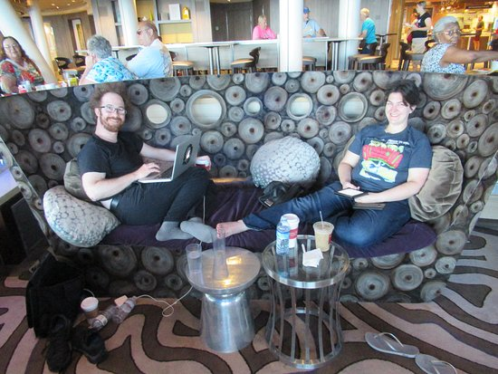 Anthem of the Seas: Lots of comfortable lounging areas. This is from Two70.
