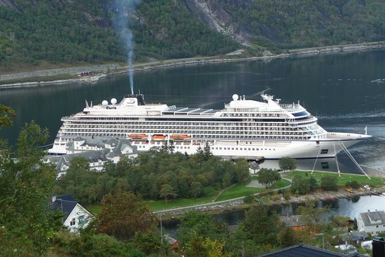 Viking Sea at harbor in Eidfjord, Norway
