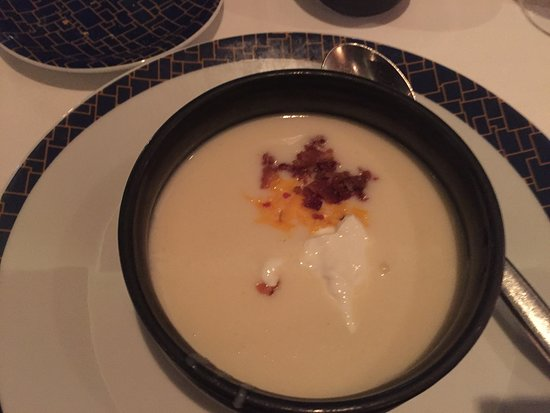 Norwegian Breakaway: Potato soup from Cagney's. Gross. Couldn't eat it, tasted like chic