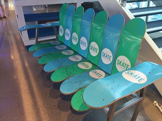 Anthem of the Seas: Skateboard bench in SeaPlex