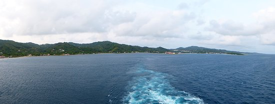 Norwegian Escape: View from Aft Balcony