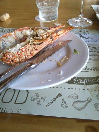 Rock lobster not Atlantic