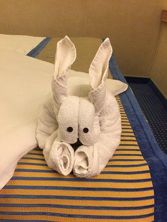 Carnival Sunshine: Towel animal in my cabin