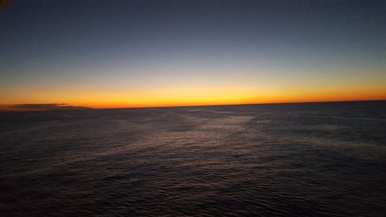 Anthem of the Seas: Sunset from our balcony on the way home to NJ.