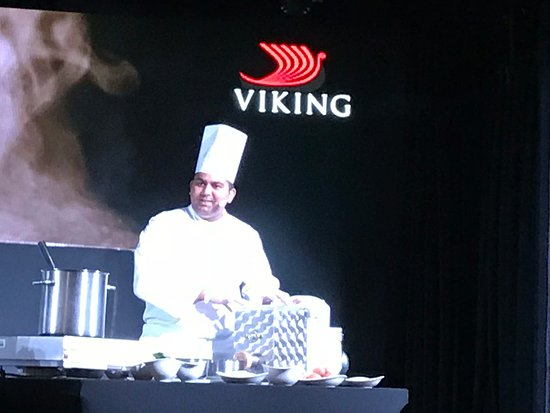 Viking Sky: Chef food demonstration in Star Theater
