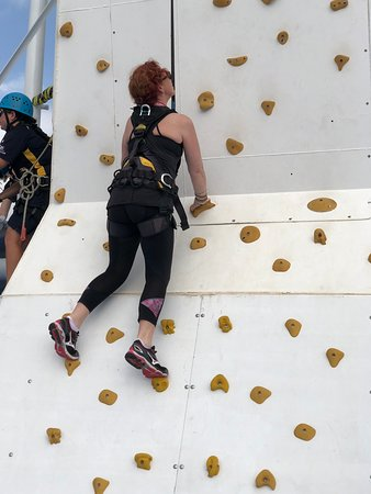 Pacific Explorer: Rock climbing wall in Edge