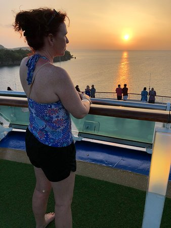 Pacific Explorer: Stunning sunset from the deck of the ship