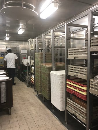 Pacific Explorer: Tour of the galley during the chef