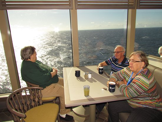 MSC Seaside: A quite coffee in the Biscayne Buffet