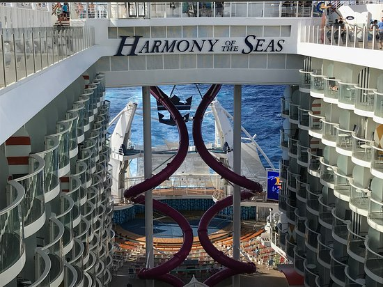 Harmony of the Seas: Boardwalk view with other slides