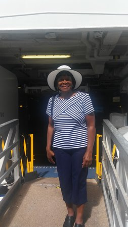Regal Princess: I am standing on the gangway, making an exit from the ship..