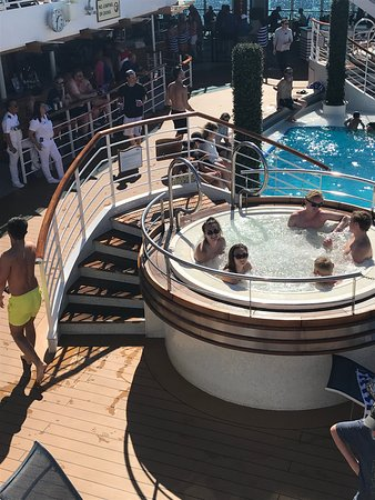 Regal Princess: This is one of the hot tubs. We enjoyed them. Not too hot  But busy with kids