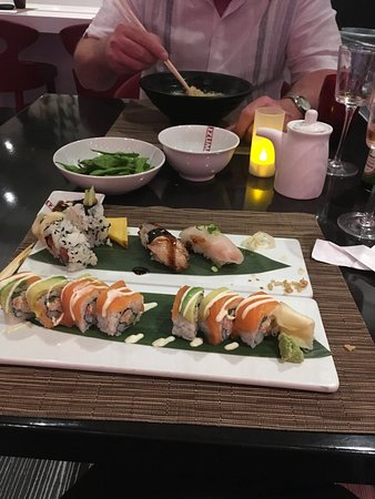 Anthem of the Seas: I over ordered at the Japanese restaurant.