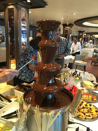 Anthem of the Seas: The chocolate fountain.