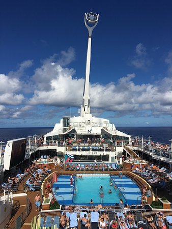 Anthem of the Seas: The North Star raised above the Caribbean Sea.
