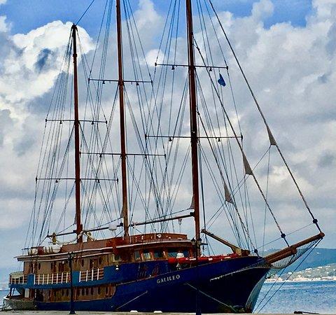 Galileo in port.