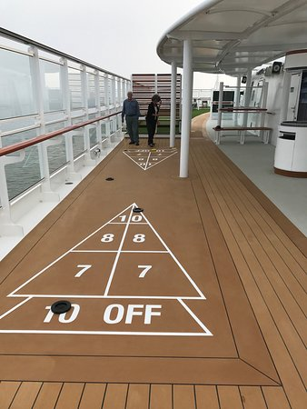 Sports deck on the Viking Sun.