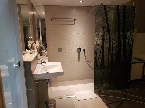 Hotel Verde Cape Town Airport: shower is right inside the room, no privacy