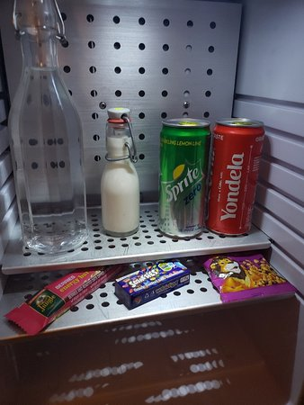 Hotel Verde Cape Town Airport: complimentary snacks and beverages in a mini fridge