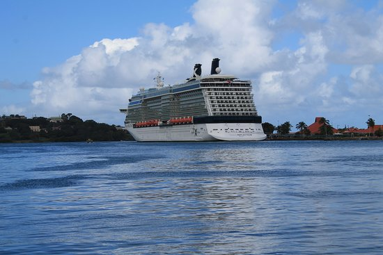Celebrity Reflection: Reflection docked in St. Lucia