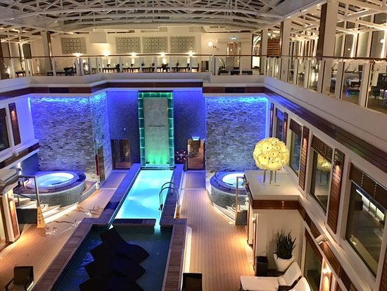 Norwegian Escape: The Haven private solarium away from the crowds