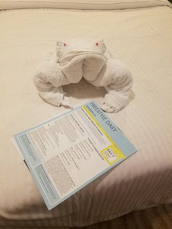 Norwegian Breakaway: We had a different animal every night when we came back to our cabin.