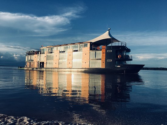 Aria Amazon as we return from another breath taking skiff adventure along the river.