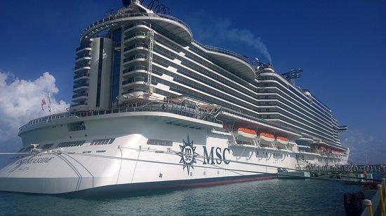 MSC Seaside - docked in Ocho Rios Jamaica