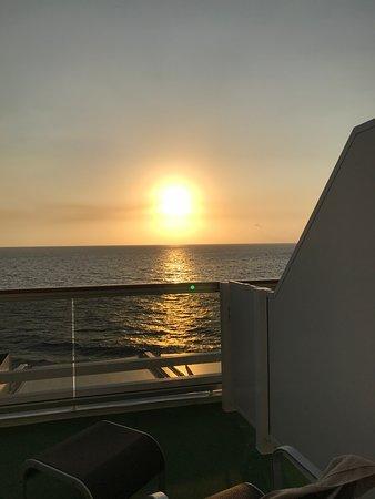 MSC Seaside: sunrise on balcony