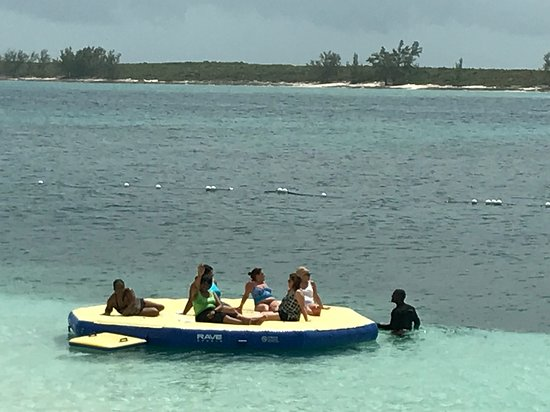 Anthem of the Seas: Pearl Island tour was fun. We were taken by boat to a private island where