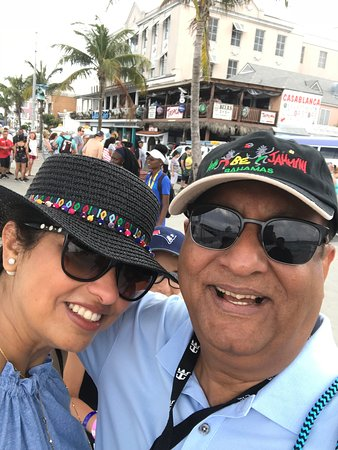 Anthem of the Seas: Me and my wife at the Bahamas