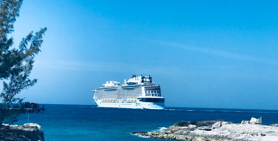 Anthem of the Seas: View of Anthem of Seas from CocoCay