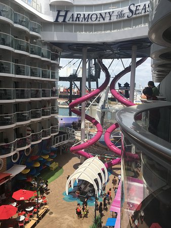 Harmony of the Seas: Picture from our balcony of the Boardwalk