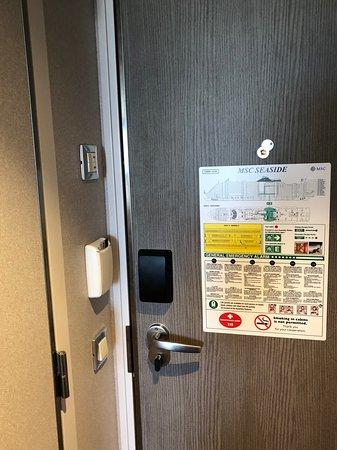 MSC Seaside: Door - keycard slot (powers room)