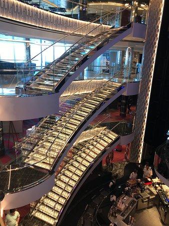 Beautiful Swarovski staircases on the MSC Seaside!