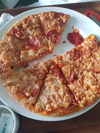 Britannia: Room service pizza- horrendous quality dry and tasteless!