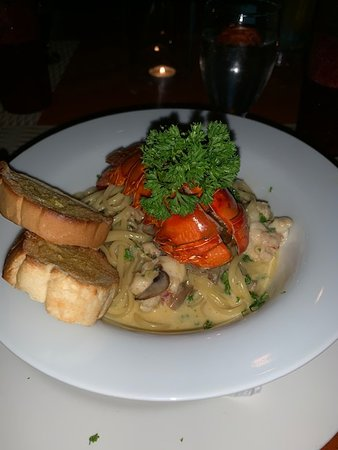 Nandayure, Costa Rica : Les presentamos nuestra deliciosa pasta con langosta. Una delicia!