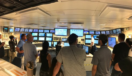 Harmony of the Seas: One of the control rooms