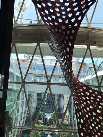Harmony of the Seas: daylight view of central park