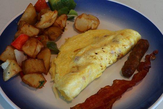 Norwegian Bliss: Breakfast in the buffet restaurant.  I enjoyed these breakfasts more than I