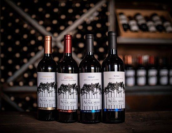 Melipilla, Chile: Estos son nuestros cuatro vinos premium de Viña Las Araucarias.