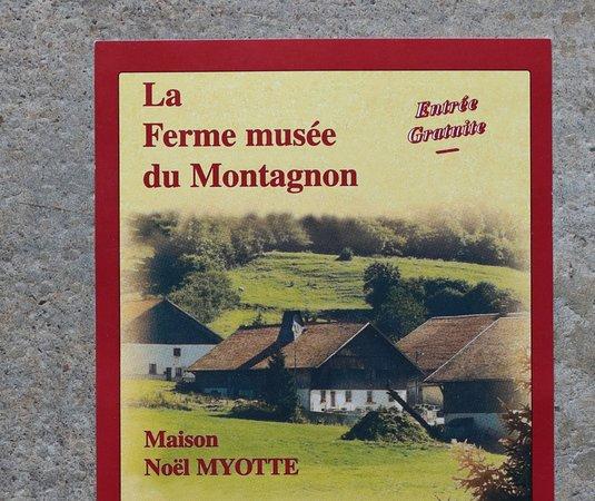 Le flyer de la ferme de Montagnon